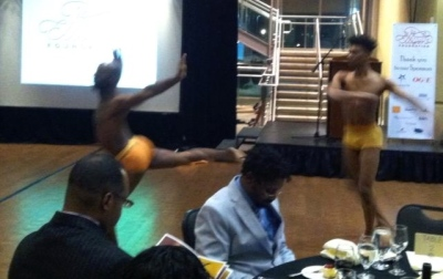 Dancers under the direction of OU Professor Derrick Minter performing at the Ralph Ellison Foundation's Gala celebration.